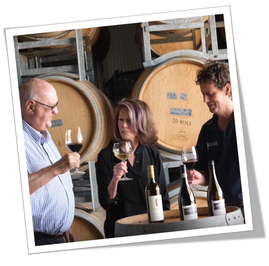 Vignerons Bill & Vicki Widin & winemaker Mark Woods