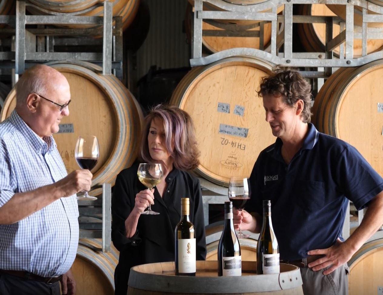 Bill & Vicki Widin and winemaker Mark Woods