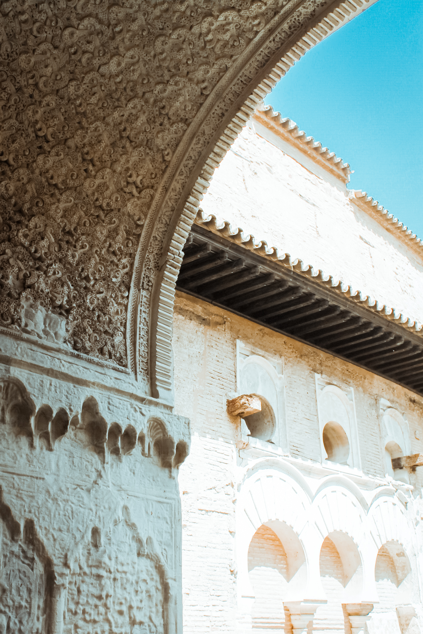 Palace Arches with Arabic Inscriptions