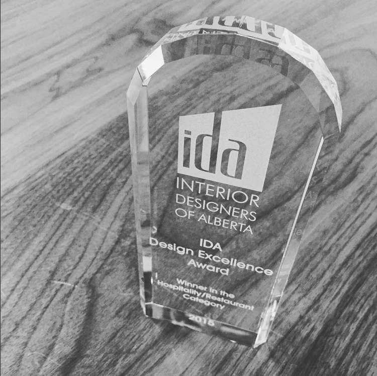 IDA Design Excellence Award, 2015  Gold - Hospitality or Restaurant Design: The Nash Restaurant & Off Cut Bar
