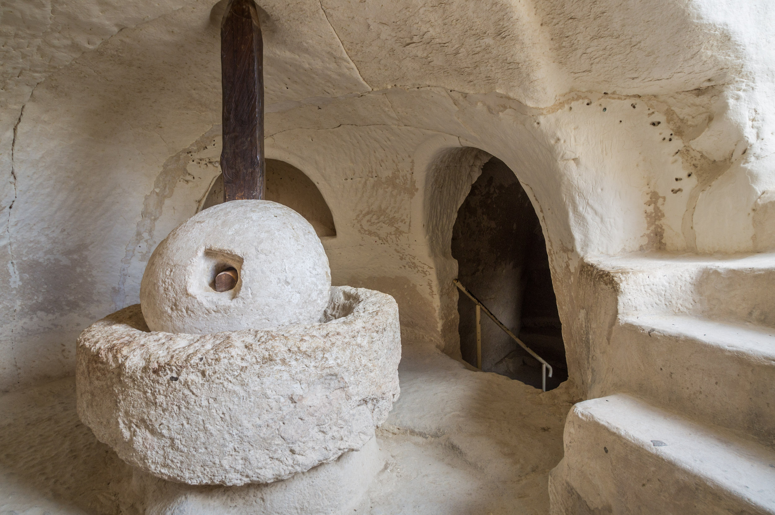 Antique presse à huile d'olive, Beit Guvrin, Israël