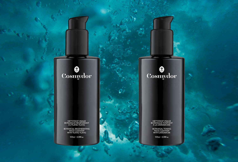 Cosmydor nettoyant visage botanique régénérant tonifiant ylang-ylang cardamome biologique luxu qualité formule cosmétique bio france
