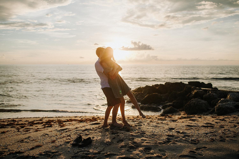 Peter + Kareena Adventurous Sunrise Beach Engagement Session in Palm Beach, FL_0032.jpg