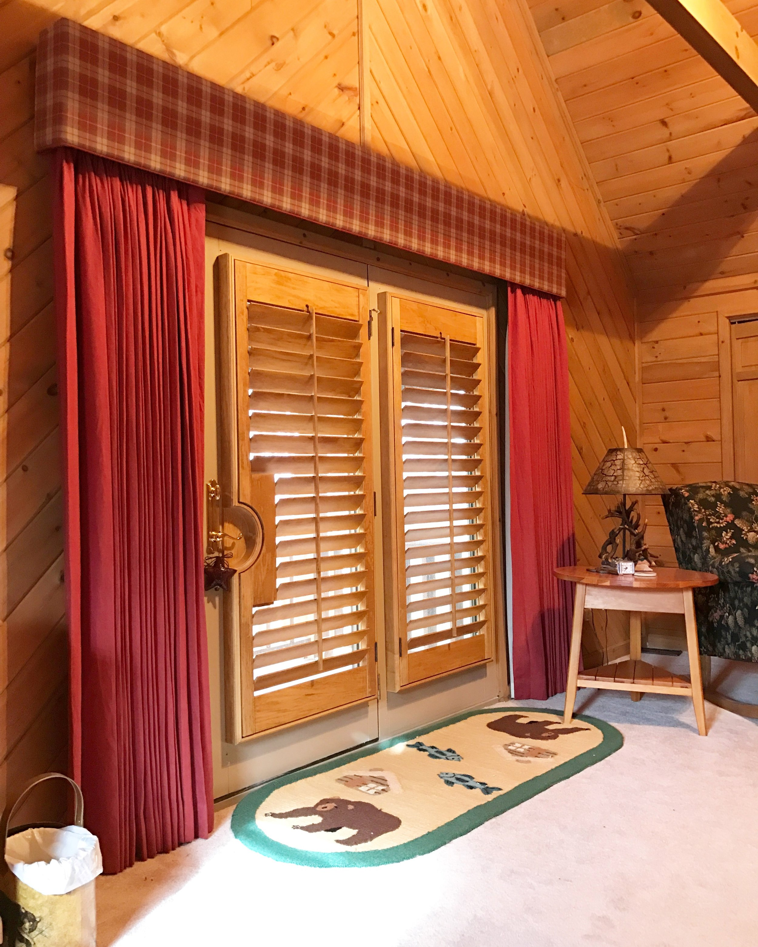 Stained with French Door Cutouts