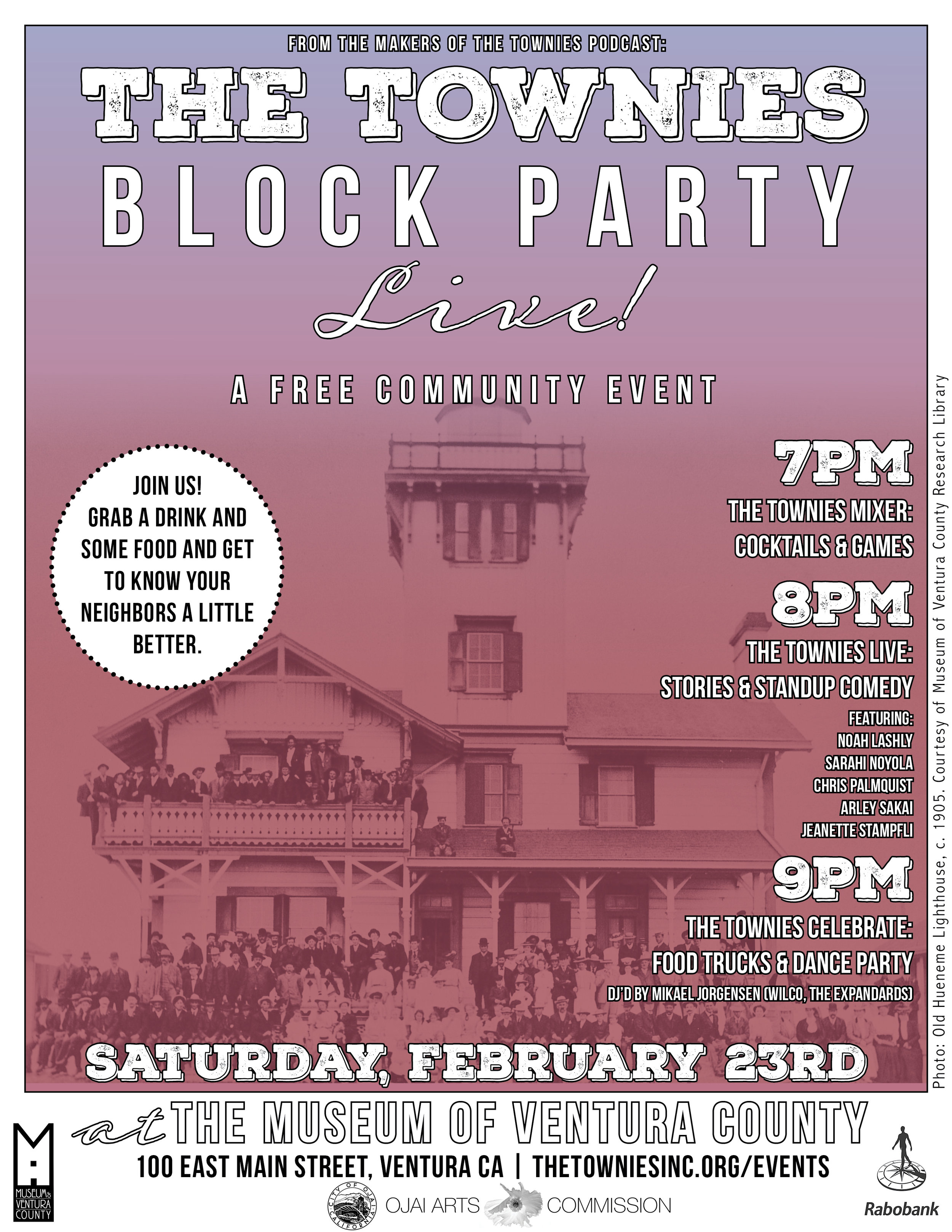 The Townies Block Party Live February 23