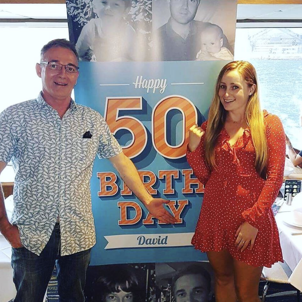 Pull up Banner for a 50th Birthday