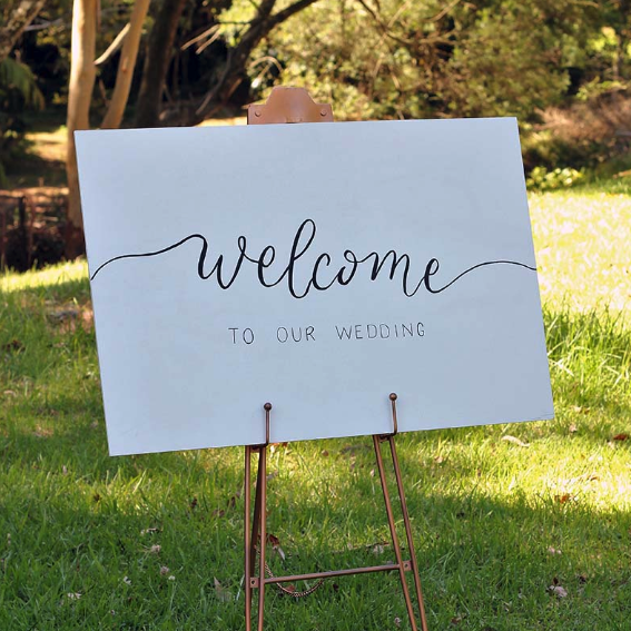 Wedding or Birthday Welcome Signage