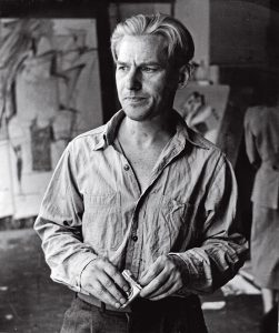 Willem de Kooning in 1950; photograph by Rudy Burckhardt