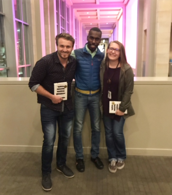 An exciting meet and greet for Katie and the Author/Activist DeRay Mckesson