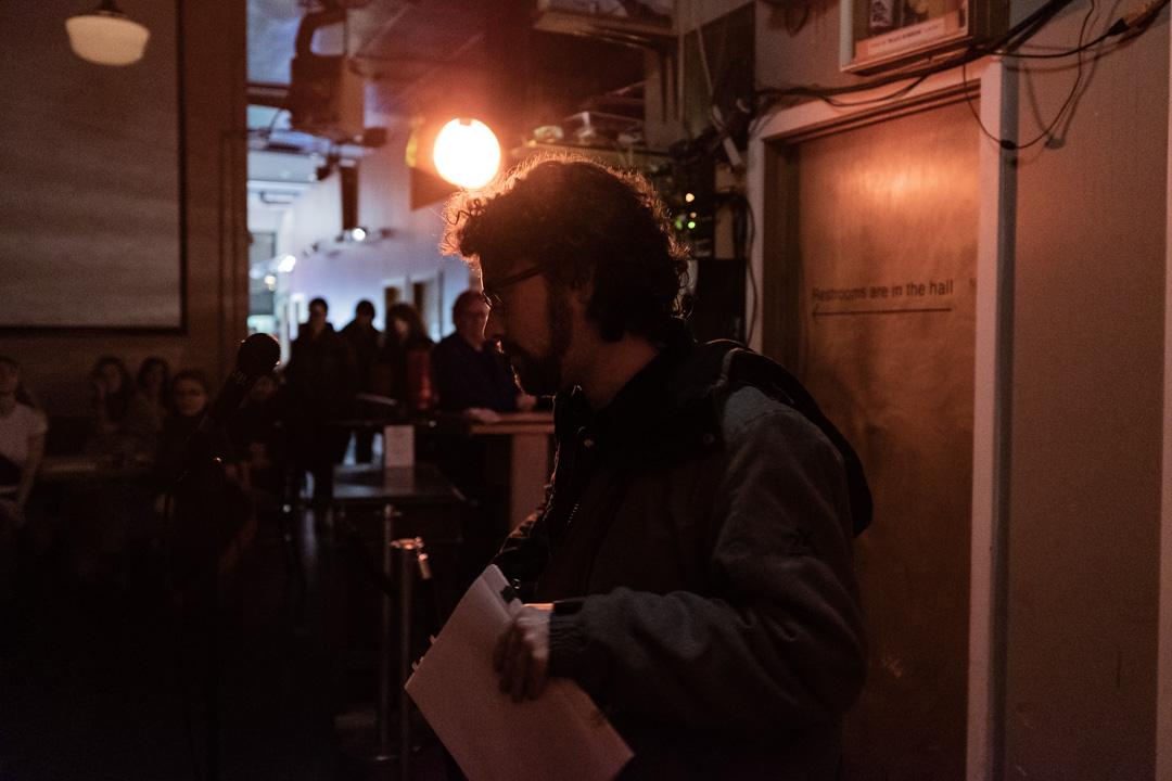 Poet Riley O'Boyle reading