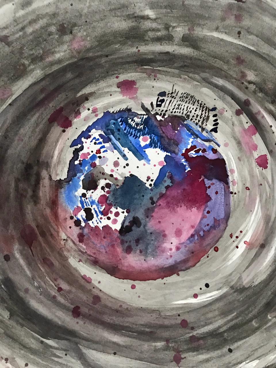 'Behind Your Iris' - Olympia, WA 2018 - 18x24 Watercolor