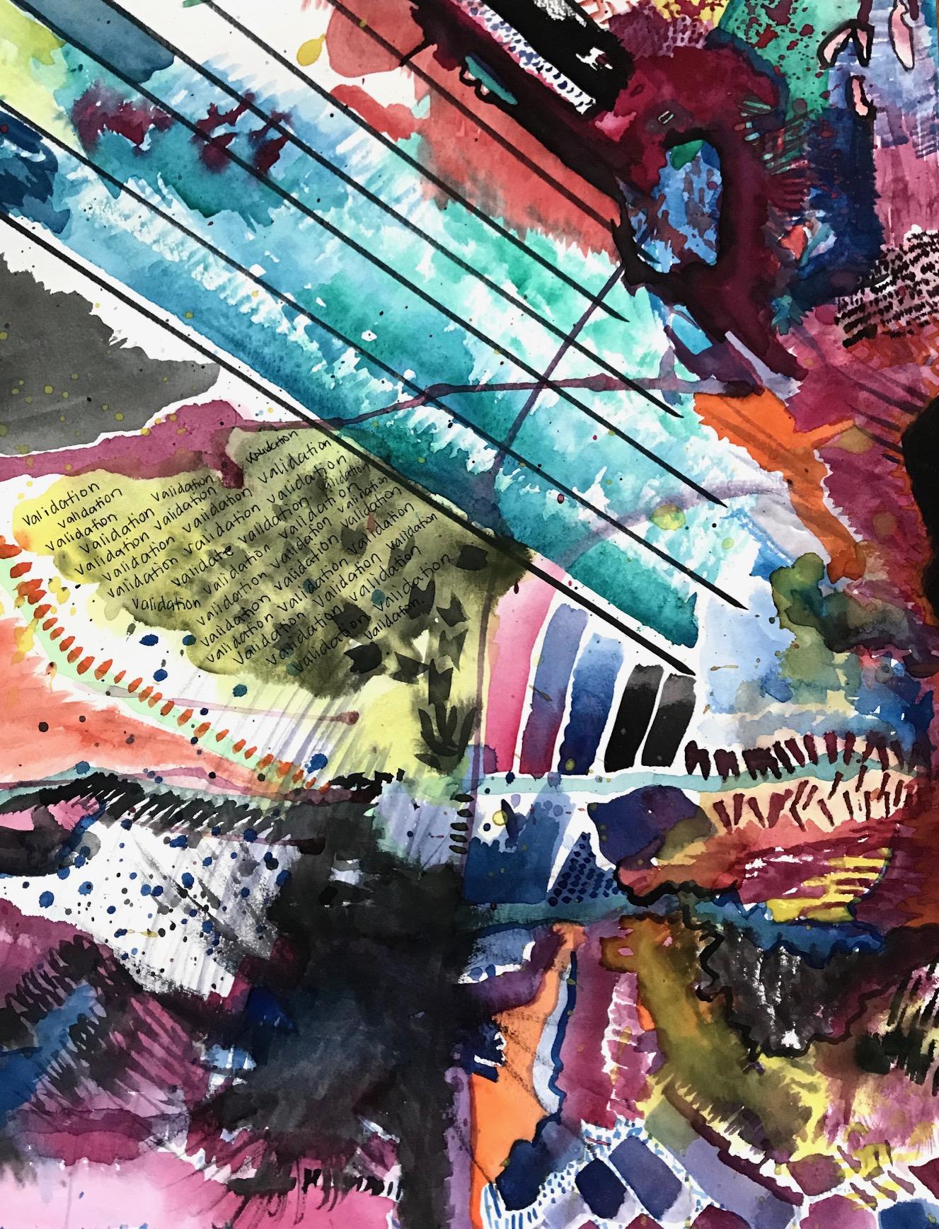 'Validation' - Olympia, WA - 2018 - 18x24 Watercolor/ink