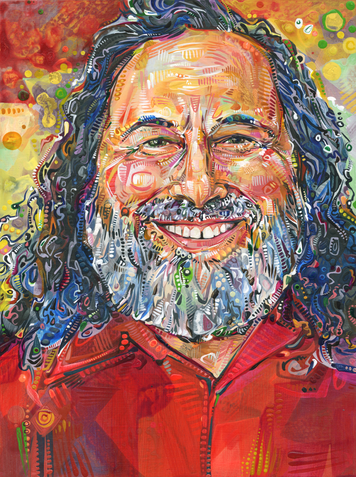 Richard Stallman. Painted by Gwenn Seemel.