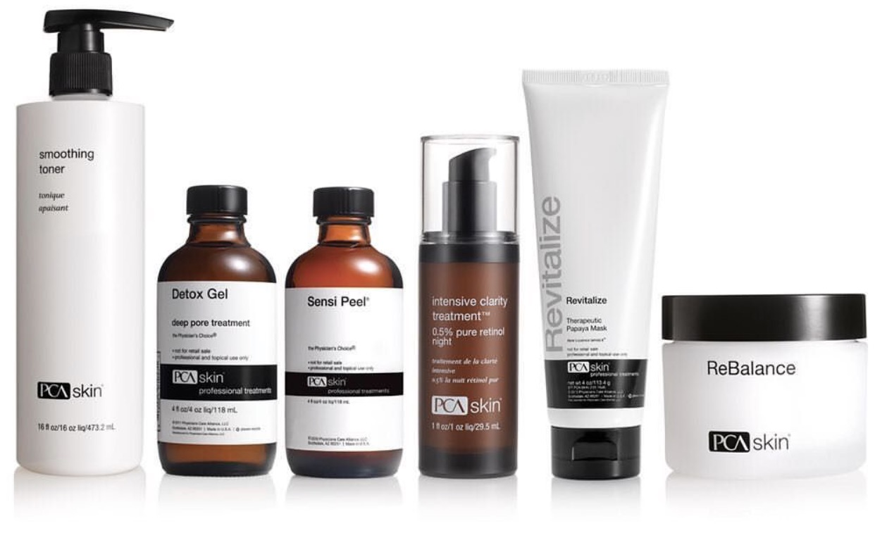 PCA Skin Peels - Q: What product line do you use for your medical-grade peels?A: We use all PCA Skin peels. We believe in progressive peels, not aggressive peels. We work with the client's individual level of sensitivity and what they are looking to achieve. Many of our peels are designed with the idea that other treatments will be used in the long-term treatment of the guest.Q: Will I peel aggressively after a peel?A: You don't have to peel after a peel. Some clients never see visible peeling. You will still achieve outstanding results without exhibiting peeling. PCA Skin Peels are progressive not aggressive. Everyone's skin is different. Some may see visible peeling others will not. You do not need to physically peel to see improvements on texture, tone and overall appearance.Q: What is the downtime following a PCA Skin peel?A: There is minimal downtime after a PCA Skin Peel. Most clients leave their treatment with a radiant glow and able to continue with regular activities. Sun exposure is certainly not recommended. Wearing sunblock is highly recommended. And avoiding activity that causes sweating 48 hours post procedure is also recommended.Q: How does peeling help my skin?A:When you peel you are exfoliating. In other words, dead, damaged skin cells are shedding. This process helps reveal new, healthy skin on the surface. The is also referred to as cell turnover. A process that slows down as we age. A healthy cell turnover allows new skin cells to come to the surface keeping the skin glowing and healthy looking.Q: Am I a candidate for a PCA Skin Peel?A: Each peel is customized according to skin concern, skin color and level of sensitivity. Expectant moms or breast feeding moms, those taking Accutane, someone with a sunburn or under radiation therapy are not candidates for a peel.