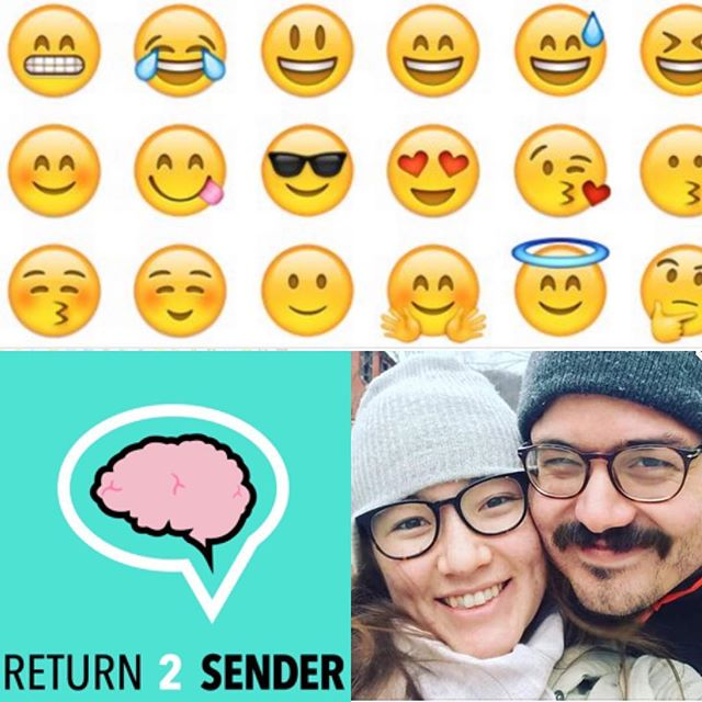 Don't forget to catch episode 54! Allie & Jake are joined by Zach & Olivia for a great emoji debate 🤔listen on iTunes or return2senderpodcast.com
