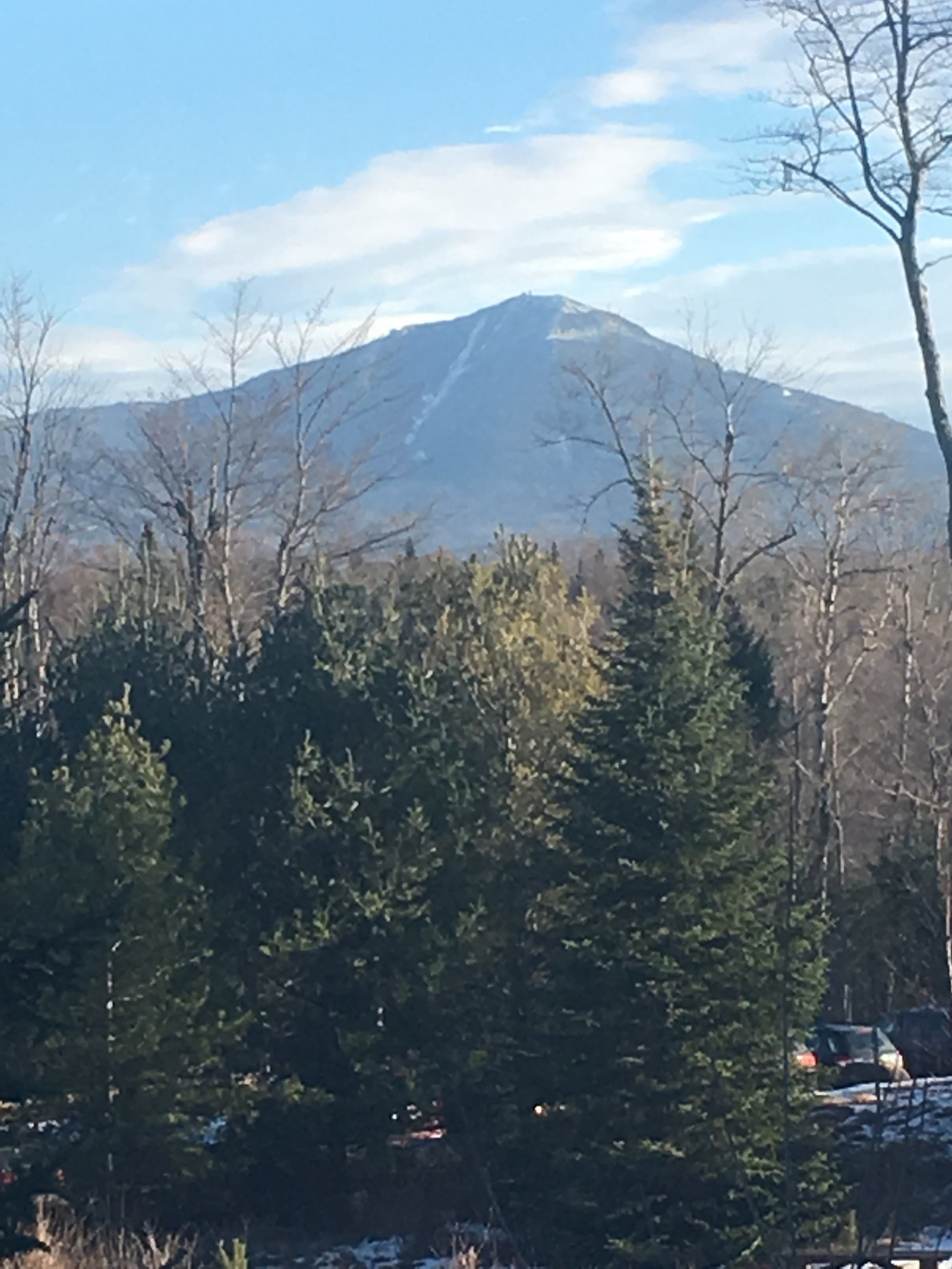 Whiteface Mountain - Lake Placid, NY - Backside of the mountain; View from Whiteface Lodge balcony, Late Fall 2017