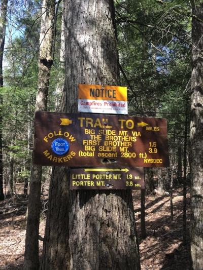 Trailhead and trail info