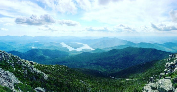 Lake Placid in the distance