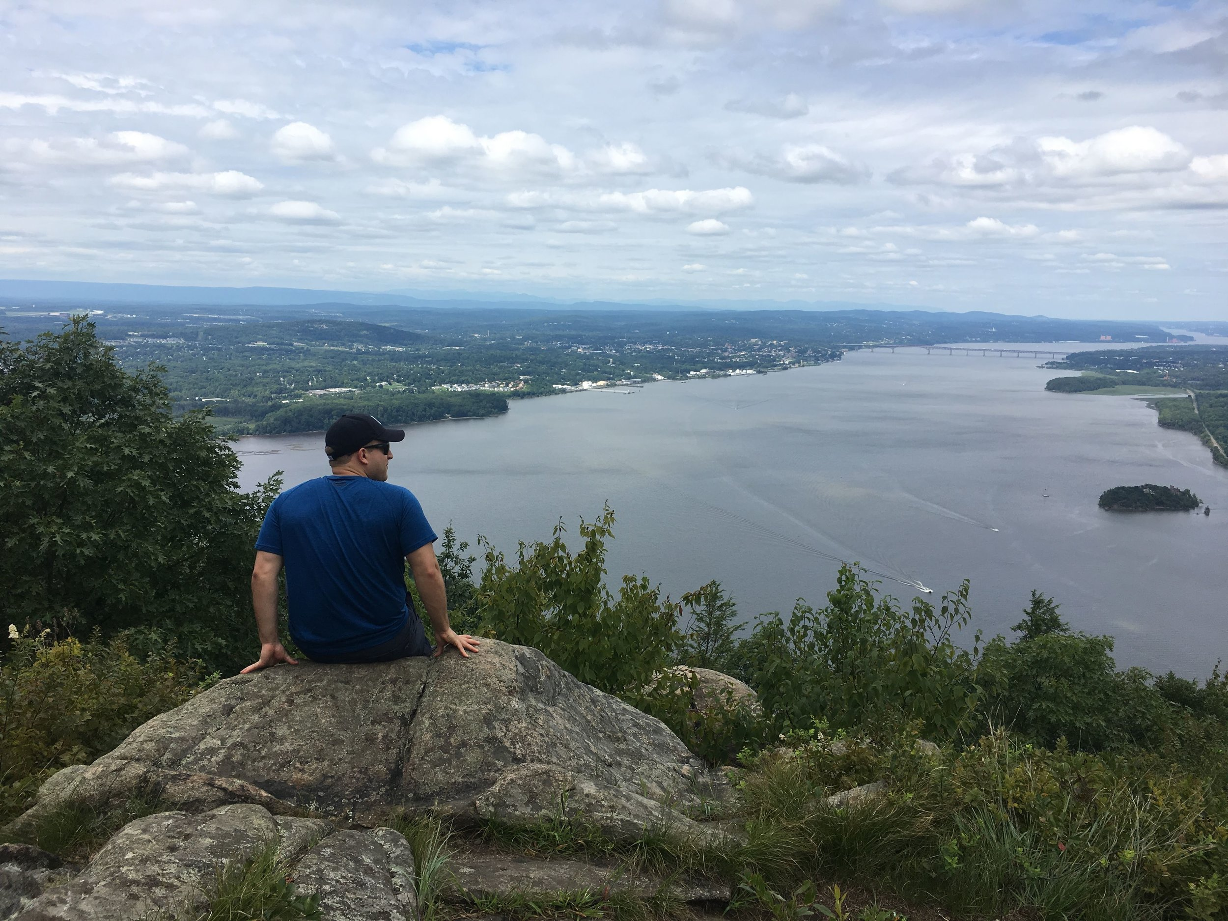 Overlooking the Hudson from Storm King summit