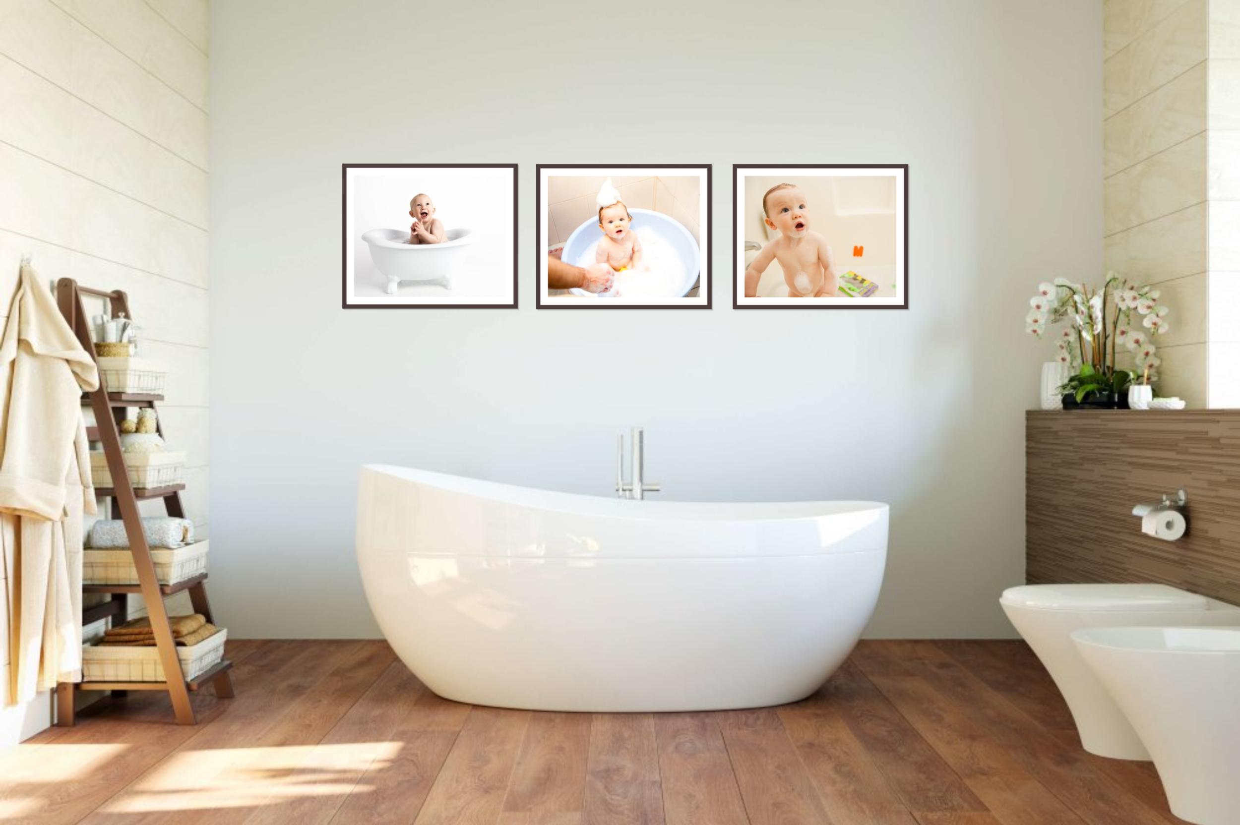 bathroom wall gallery