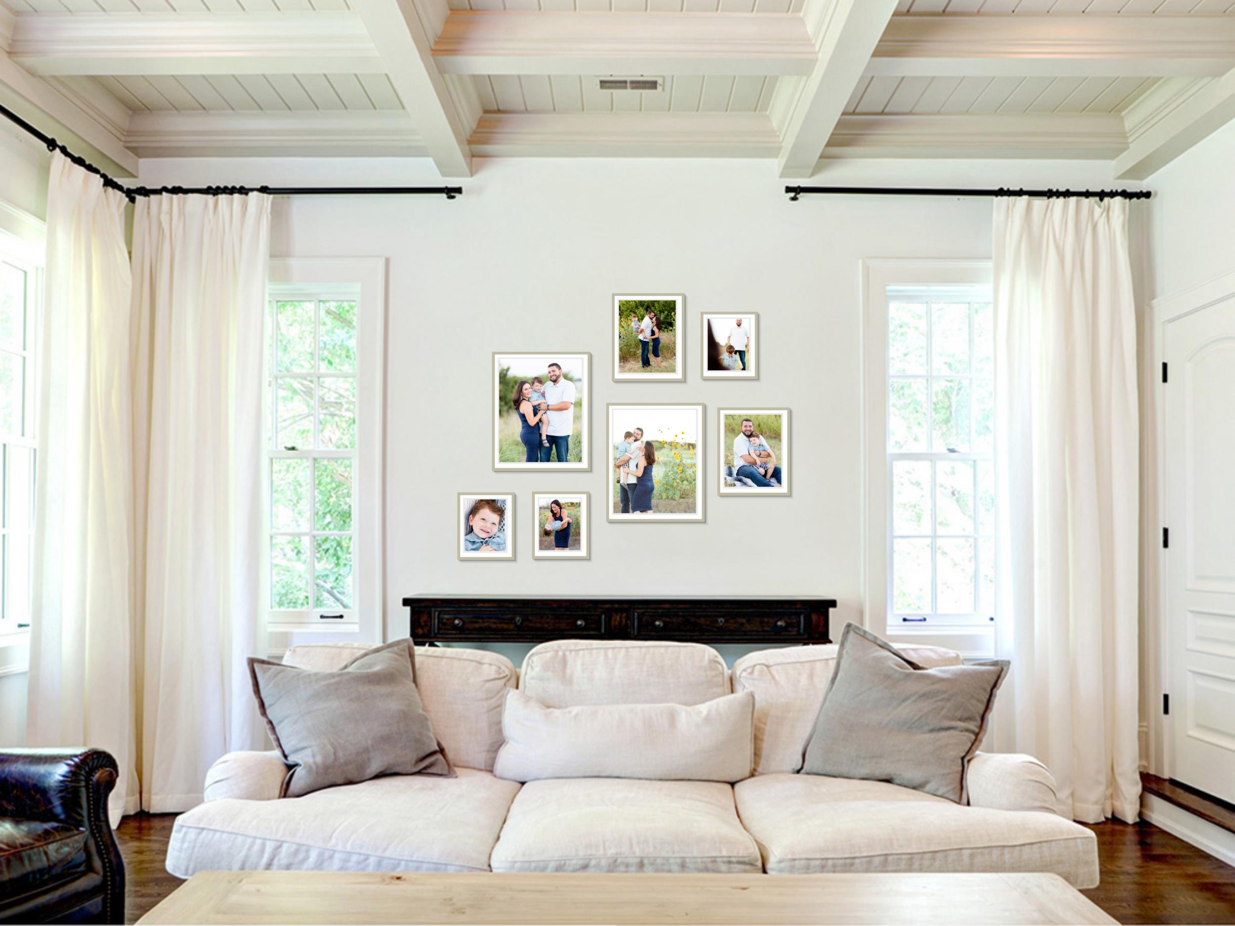 non symmetrical wall gallery
