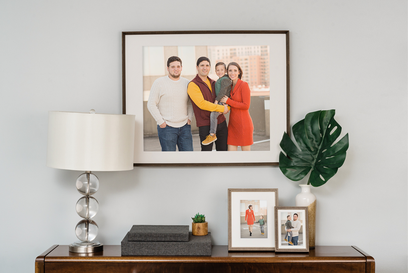 styling your home with photos and plants