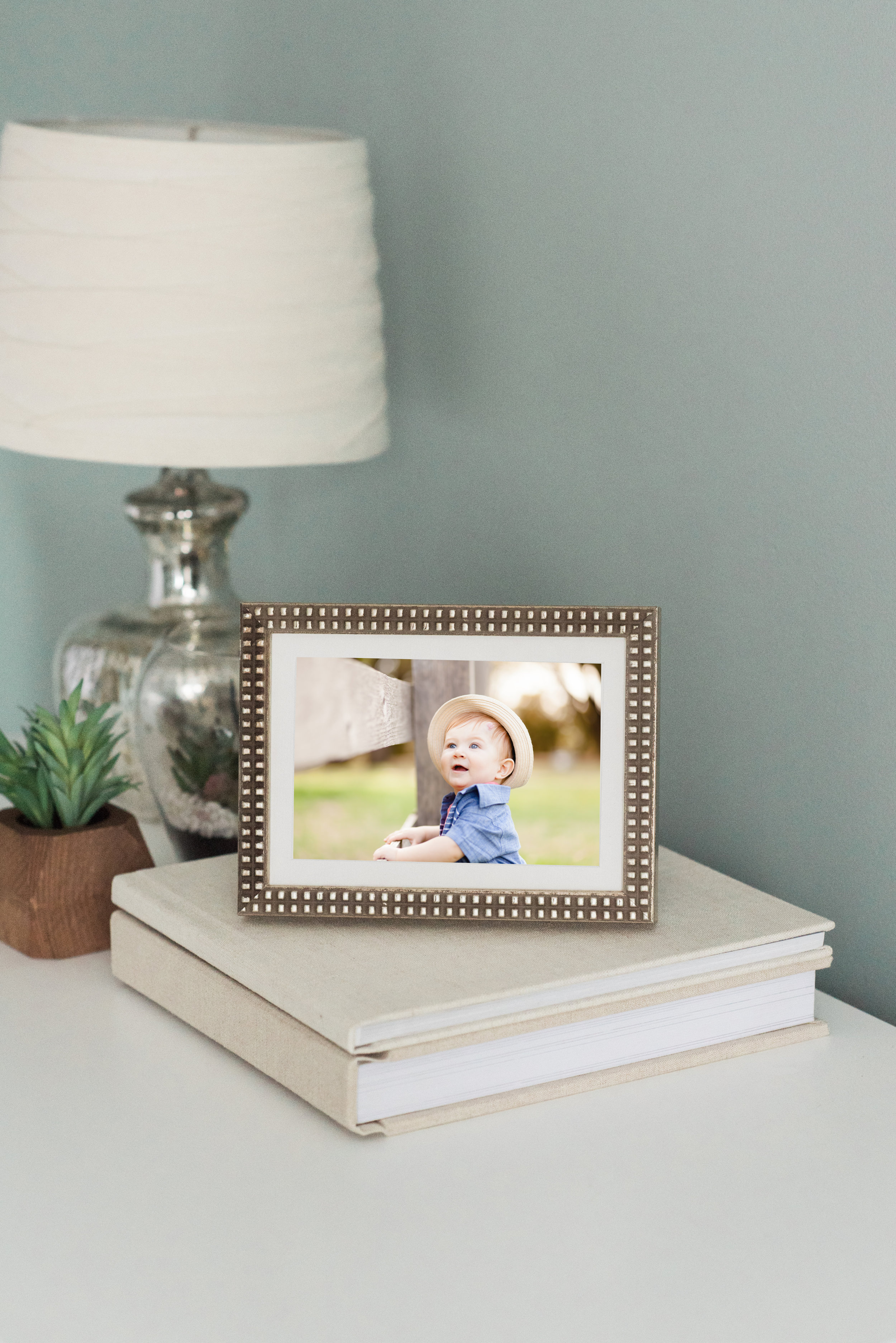 The Hawthorn Frame (picture above) Great for eclectic homes. Matches well with home colors of grey, white, soft neutral colors. Matches with many preexisting frames styles. The most popular frame!
