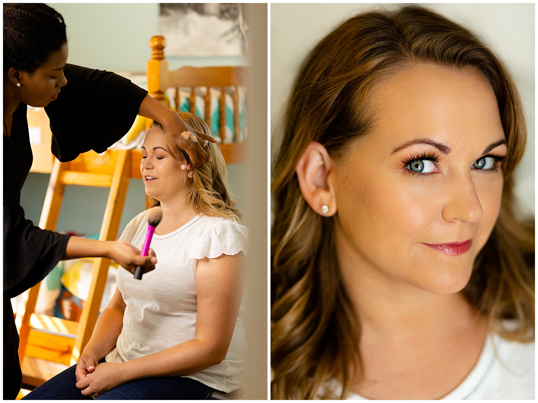 Here are some teaser behind the scenes photos of make-up and a headshot of Millie!