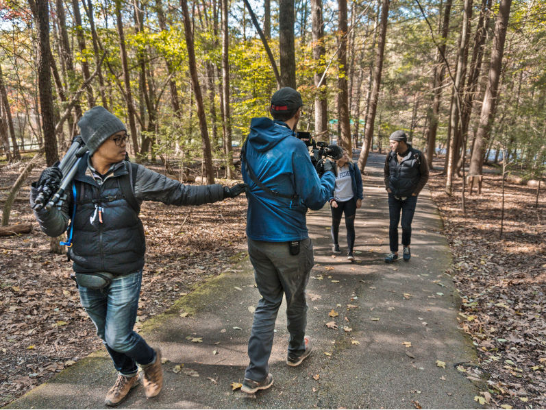Bays Mountain Park - - AWOL Air Water Or Land - Travel Host Angel Verde - Film Crew, behind the scenes travel shows - Johnson City Press AWOL - Air Water Or Land, Northeast Tennessee Amazon Prime Video outdoor travel series