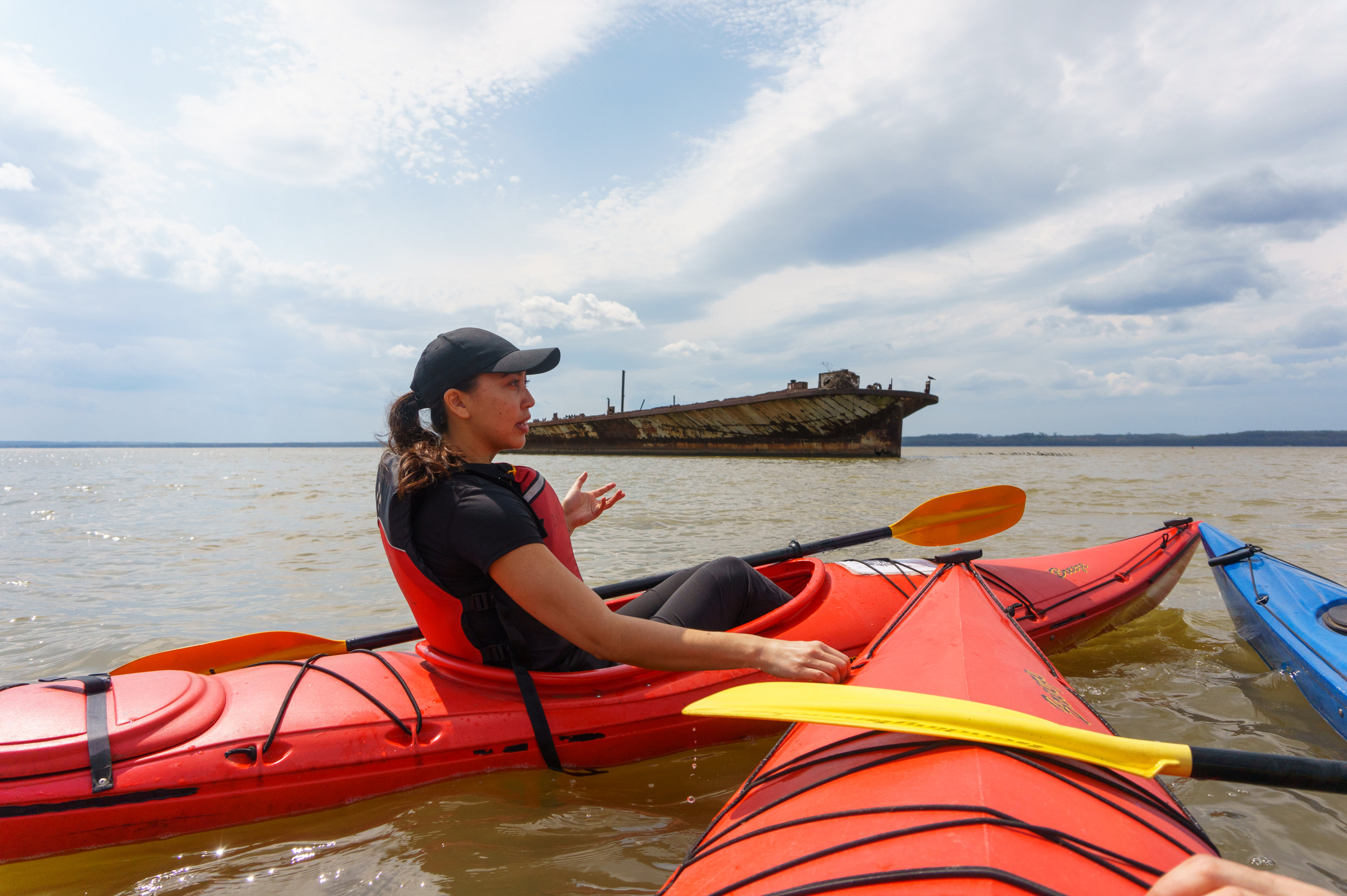Kim shares her knowledge of Mallows Bay.