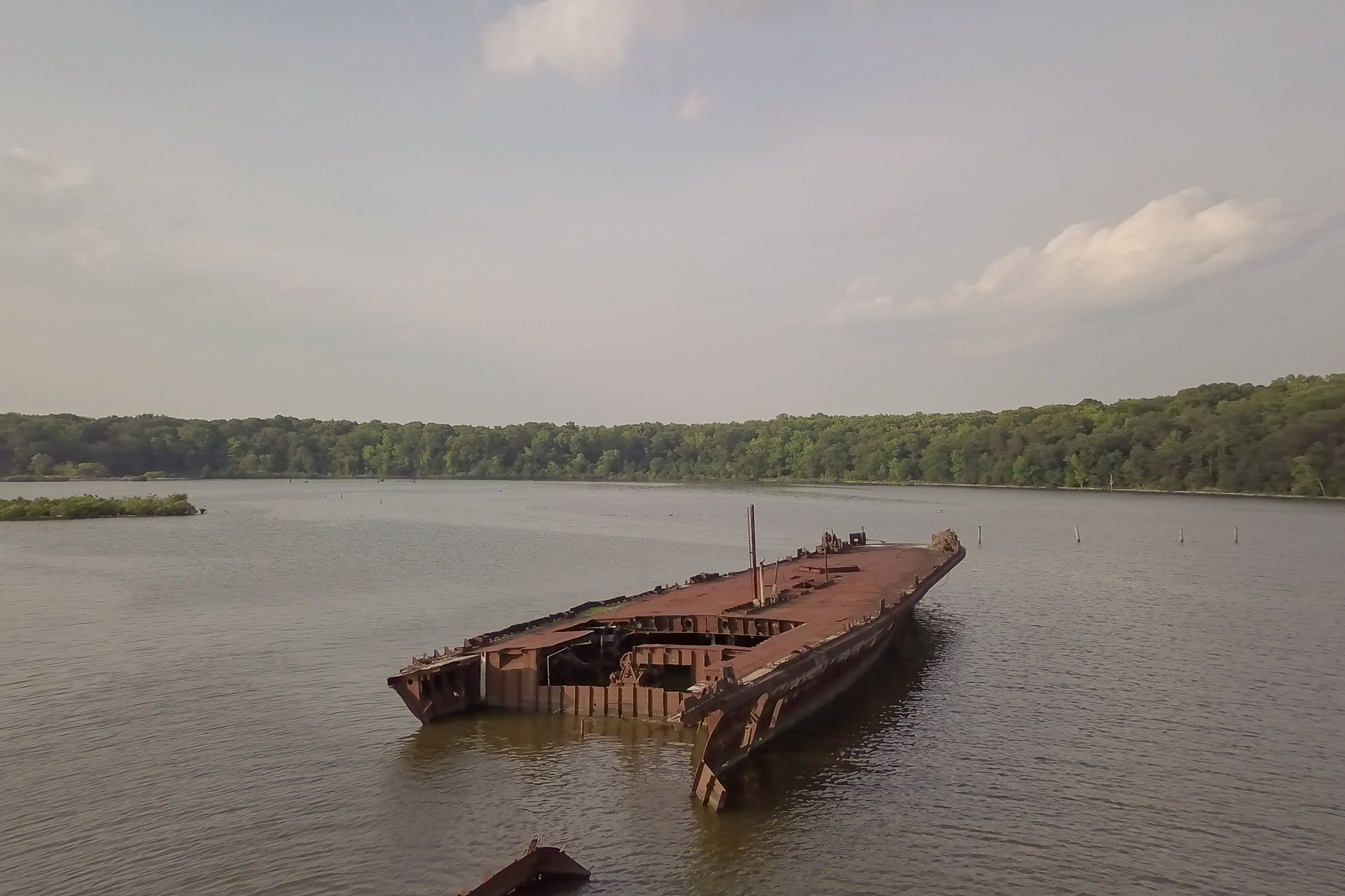 One of Many Sunken Ships in Mallows Bay