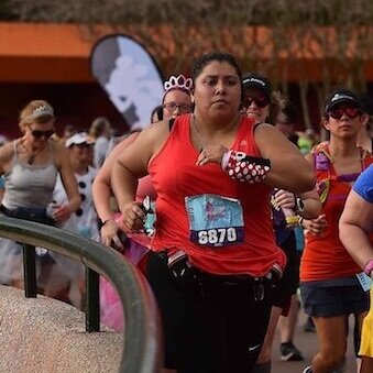 Kim Rodriguez from Latinas Running Participates in a Race