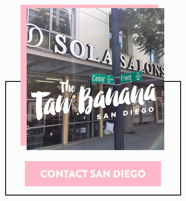 Contact The Tan Banana San Diego