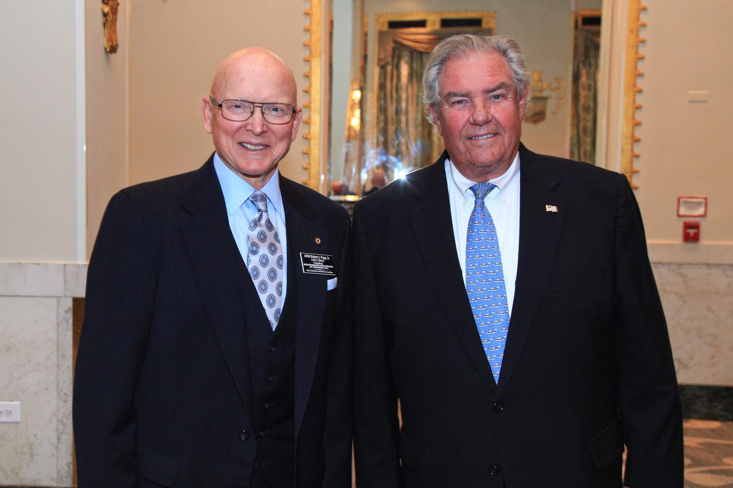 Admiral Robert J. Papp, Jr. USCG (Ret.) and Boysie Bollinger 4-25-18.jpg