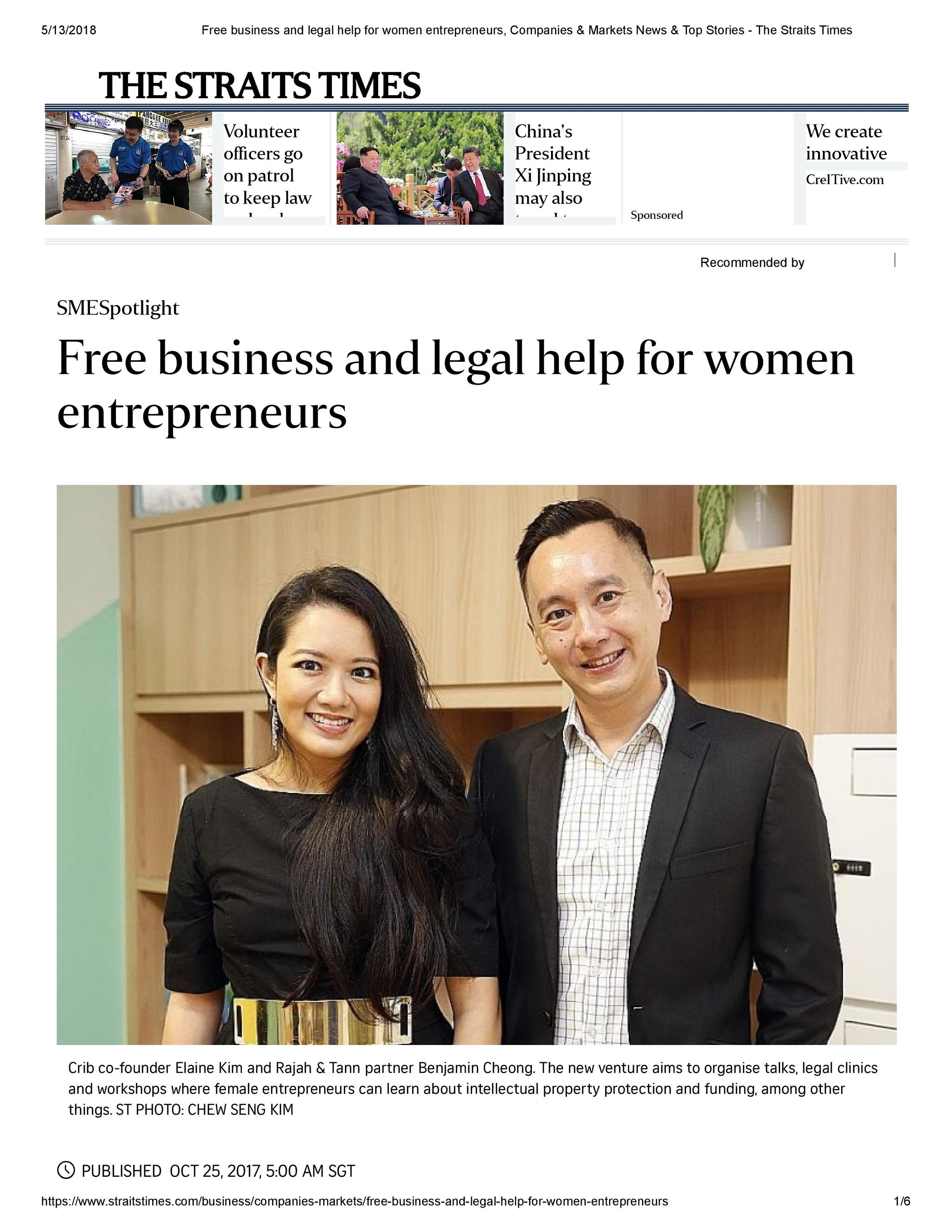 Free business and legal help for women entrepreneurs, Companies & Markets News & Top Stories - The Straits Times-pages-1-3-page-001.jpg