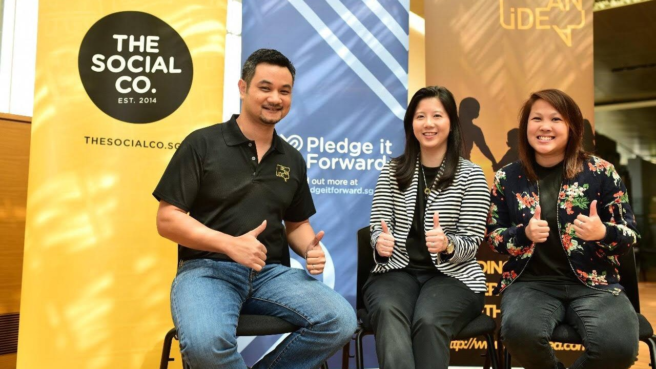 The Social Co. - The Pledge It Forward (PIF) campaign was started by The Social Co., founded in 2014 with their first initiative, 50 For 50. The main objective of Pledge It Forward is to encourage as many people as possible to give back, in whatever ways they can. Hence, our goal is to raise 10,000 pledges (each pledge is a donation of any amount) by the end of this year. We believe in collective impact - $10 from one person might not seem much, but $10 each from 1,000 people makes a huge difference!More information is available at www.giving.sg/campaigns/pledge_it_forward