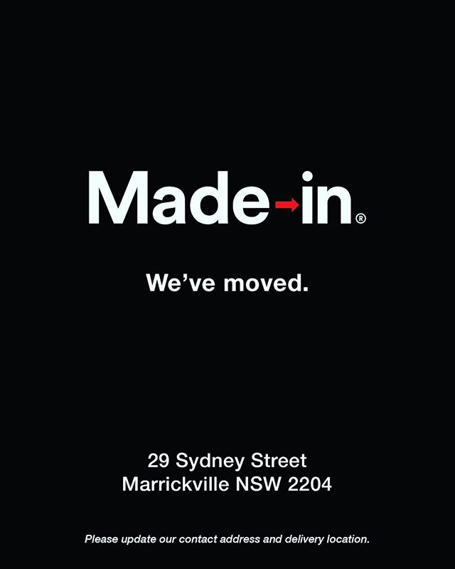 We are now in Marrickville Our new address is  29 Sydney Street, Marrickville NSW 2204 🙏