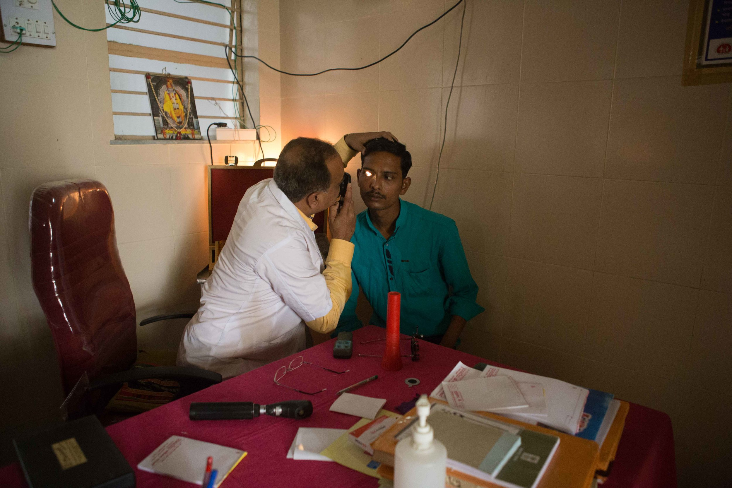 Initial screening of patients with problems related to vision, District Hospital Vizianagaram, Andhra Prades