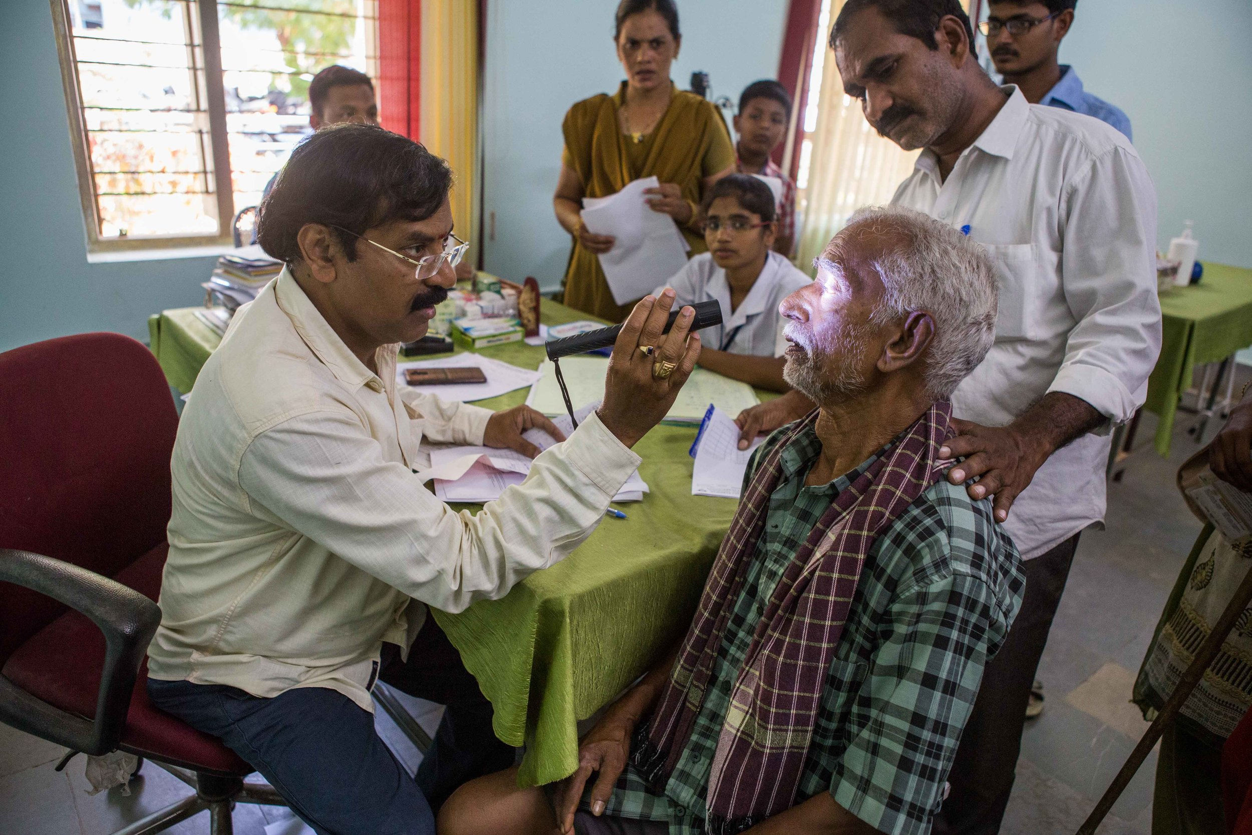Doctors are flooded with patients with problems related to vision, District Hospital Vizianagaram, Andhra Pradesh