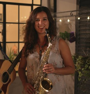 GALA SOLER,  MUSICIAN, ARGENTINA   Gala is a saxophone player and a International relations graduate. She is passionate about music and travels.