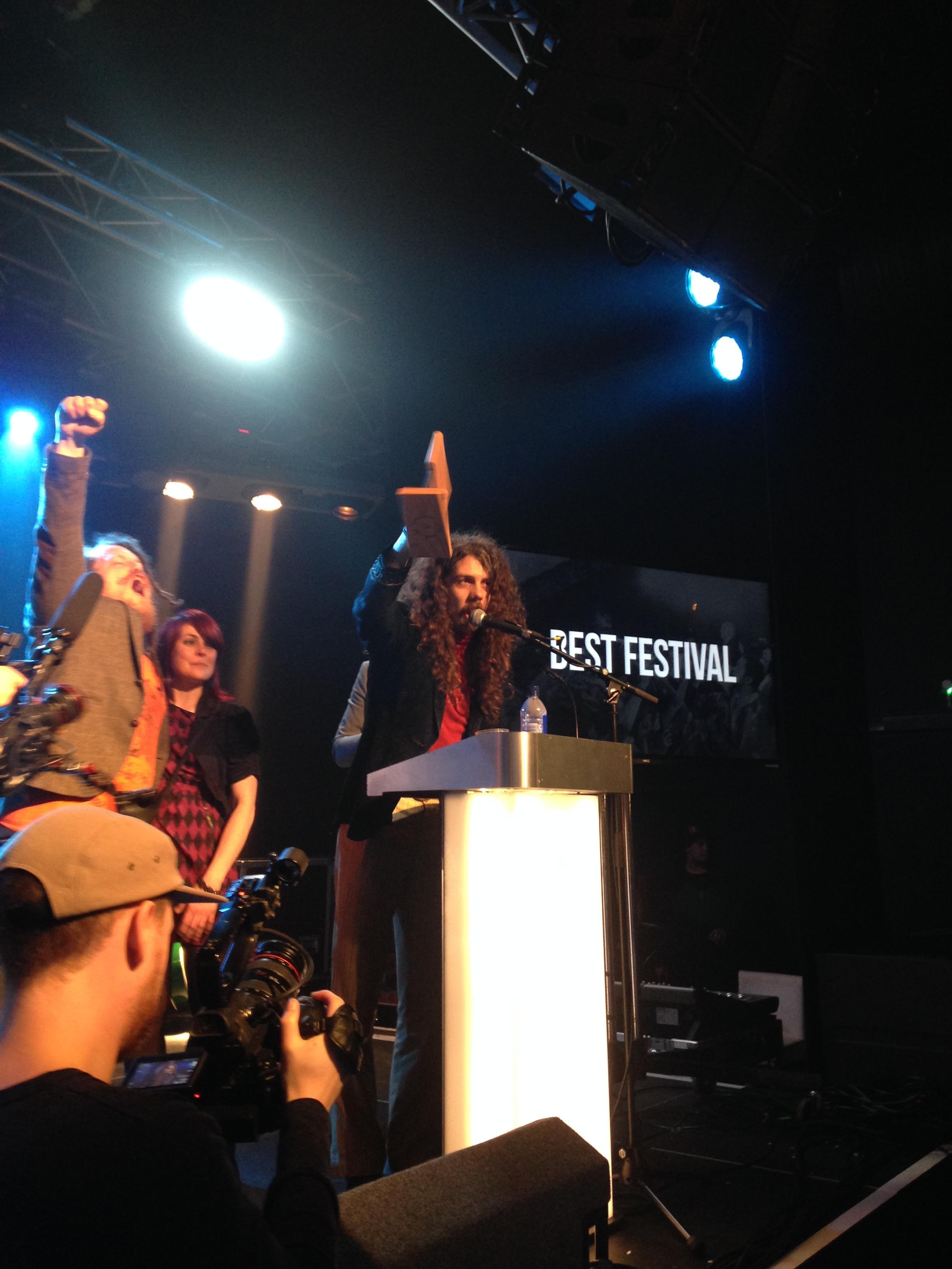 HUB winning Best Festival at the Cardiff Music Awards!