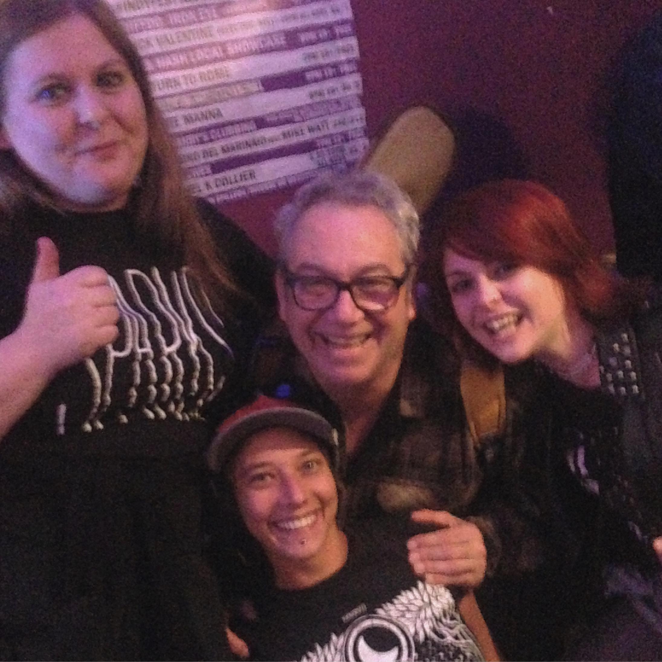 Liz, Alison, Mike Watt & Carly!