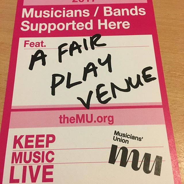 We're now a Fair Play Venue!