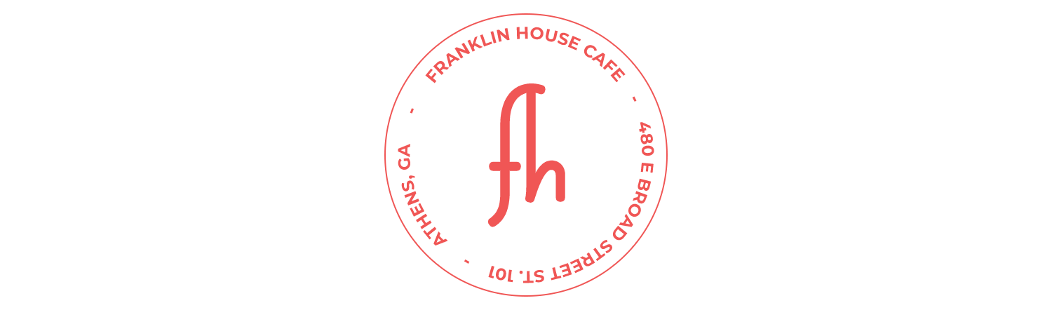 - The Franklin House Cafe is located right under the Franklin House Building on the corner of E. Broad Street and Thomas, at 480 E. Broad Street Suite 101, Athens, GA 30601, across from the BB&T bank. The café will serve coffees, espresso and drip coffee, lattes, and smoothies. The simple pastry offerings may vary with seasonality but the primary line will be sandwiches, paninis, cookies, scones, and salads. All pastries will be supplied daily by a local bakery.