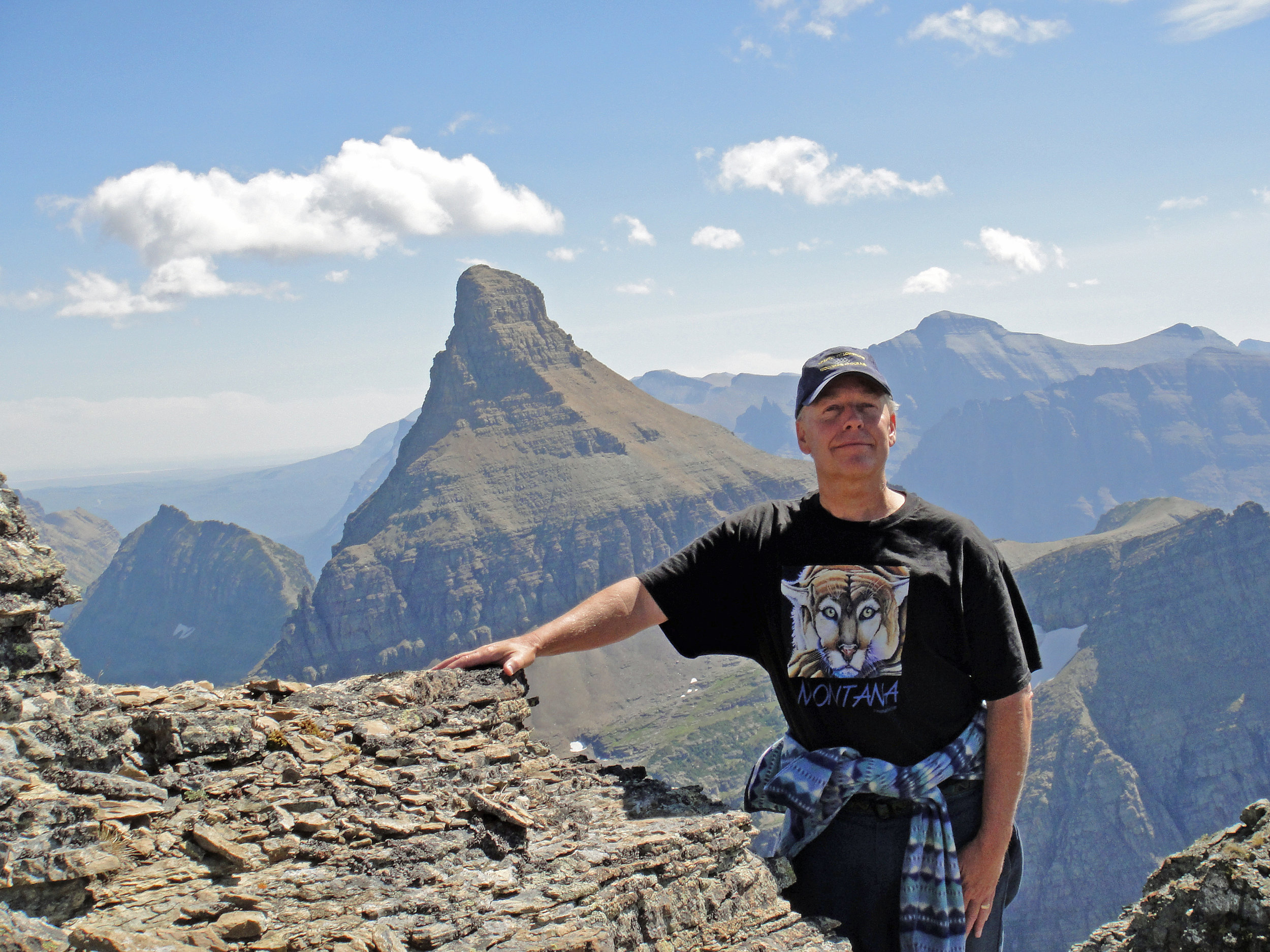 Jim Williams on Bearhat Mountain, Glacier National Park, Montana