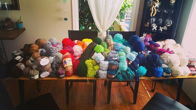 When you can't find enough space to lay out the donations for a photograph, you know you're in the best possible community of loving, caring people. Donated by neighbors near and far, this massive mound of yarn (and the rest you can't see) was delivered to our group of Bhutanese seniors today. The gratitude and excitement were immeasurable. #community #refugeeswelcome #refugees #yarn #knittinglove #elders #communitylove