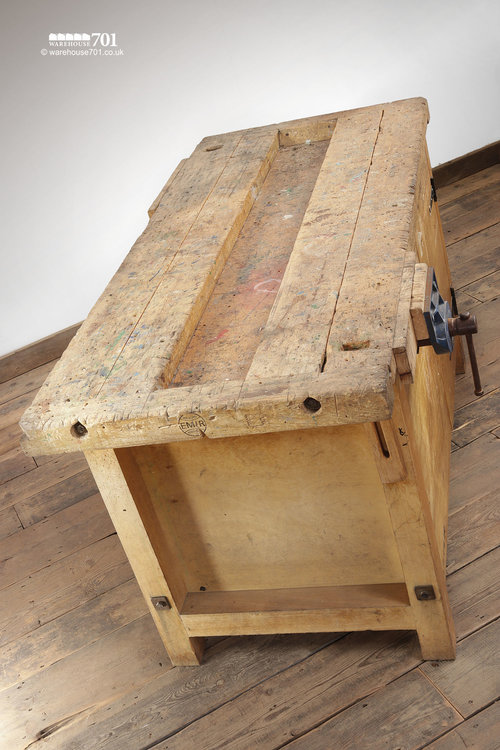Various Vintage Woodworking School Carpenters Work Benches