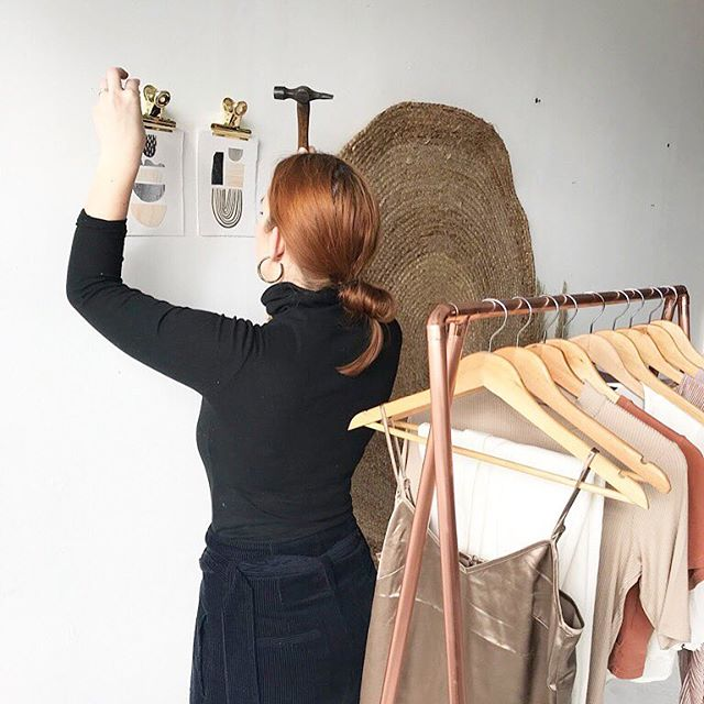 It's a Saturday, so aside from swooning over furniture I can't afford I'm looking back at the pics from the latest @thelittledeer shoot. Here's meeee doing my thing ☺️ Photo by @jadegolding •#ilovemyjob #styling #work #interiorstyling #interiors #thelittledeer