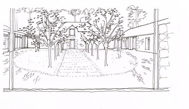 Early sketches. Steading Conversion to luxury holiday accommodation. West Lothian.  #scottisharchitecture #conversion #luxuryholidayaccomodation