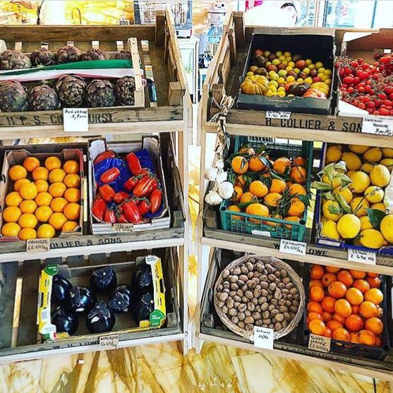 Vegetable & Fruit display